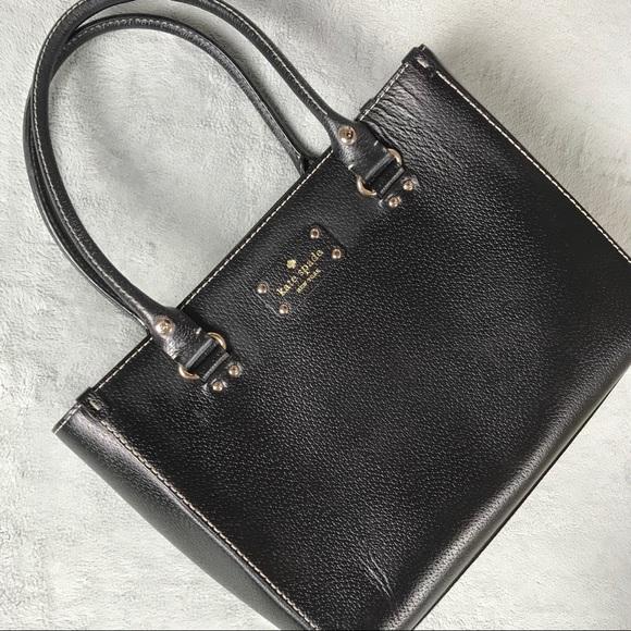 kate spade Handbags - Kate Spade Wellesley Quinn Black Leather Satchel